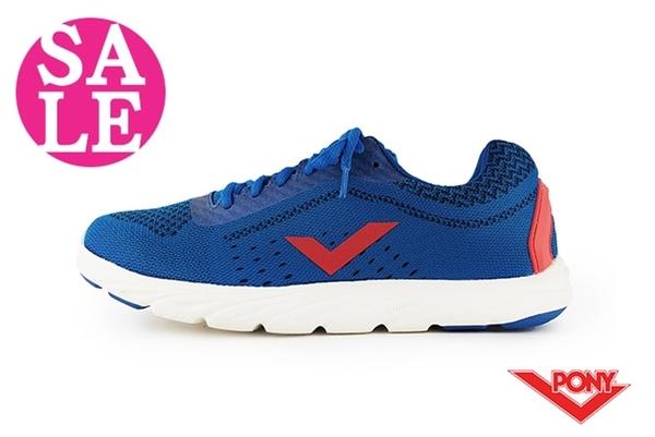 PONY START NEO 慢跑鞋 女款 台灣製 夜間反光 透氣運動鞋 零碼出清 J9432#丈青◆OSOME奧森鞋業