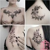 防水紋身貼 女持久性感誘惑花胸 花臂圖案貼紙【匯美優品】