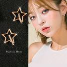 925純銀針  韓國優雅氣質 金色流星  耳環-維多利亞181162