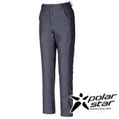 PolarStar 女彈性合身長褲『黑藍』 釣魚褲│露營│防曬褲│西裝褲 P16308