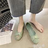 網鞋女鞋一腳蹬單鞋夏季2020新款軟底舒適平底透氣網面護士鞋 雙十二全館免運