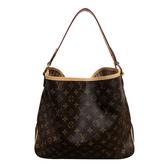 【台中米蘭站】全新展示品 Louis Vuitton Delightful MM 經典花紋肩背包(M50156-咖)