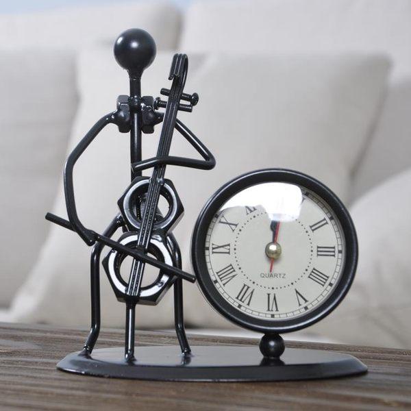 金屬鬧鐘古典文藝 現代簡約創意客廳宿舍桌面搞怪裝飾時鐘TA3384【極致男人】