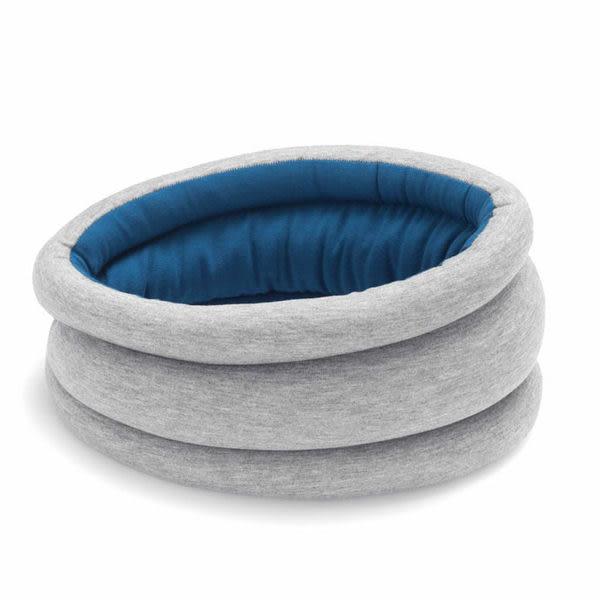 Ostrich Pillow 圍脖 旅行護頸枕 圍巾 西班牙手工製遮眼安眠枕 (藍色)『品牌』【H&D DESIGN】