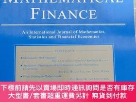 二手書博民逛書店mathematical罕見finance volume 28 1 january 2018Y28297 見圖