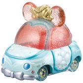 〔小禮堂〕迪士尼 小美人魚 TOMICA小汽車《粉綠.蝴蝶結》公仔.玩具.模型 4904810-11577