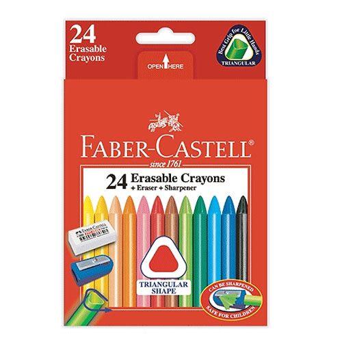 Faber-Castell三角擦擦蠟筆 24色 *122624