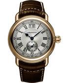 AEROWATCH Classic 大視窗小秒針腕錶/手錶-銀x玫塊金框 A41900RO01