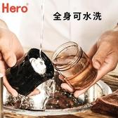 研磨機 Hero手搖磨豆機咖啡豆研磨機磨粉機便攜手磨咖啡機家用手動粉碎機 歐歐
