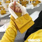 手提包 手提包側背斜背真皮夏天小包ins超火mini網紅安娜同款包 新品
