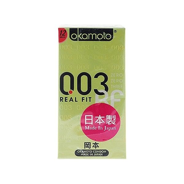 日本 okamoto 岡本 003衛生套(貼身型)12入【小三美日】保險套