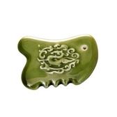 【收藏天地】乾唐軒活瓷系列*勢在必得刮痧寶-綠釉款 送禮 按摩 舒緩 碧璽
