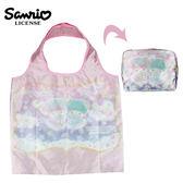 【日本正版】雙子星 x MANUFATTO 緞面 摺疊 購物袋 環保袋 手提袋 防潑水 KIKILALA 三麗鷗 - 128027
