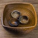 日式粗陶茶具 手工粗陶茶洗花盆魚缸   ...