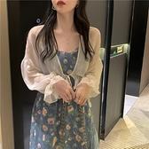 披肩夏季配裙子防曬衣開衫女薄款外套長袖超仙短款雪紡外搭空調衫 【ifashion·全店免運】