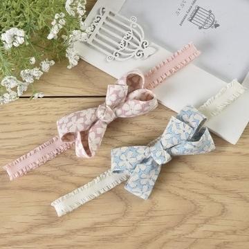 UNICO韓版 兒童立體復古風造型蝴蝶結髮帶