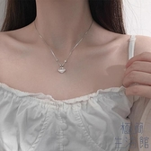 項鏈925純銀如意平安小鎖吊墜毛衣項鏈女配飾【極簡生活】