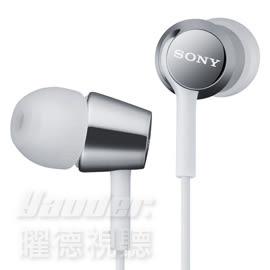 【曜德視聽】SONY MDR-EX150 白色 時尚金屬 耳道式耳機 / 免運 / 送收納盒