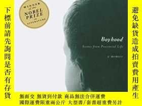 二手書博民逛書店罕見Boyhood-少年時代Y436638 J. M. Coetzee Penguin Books, 1998