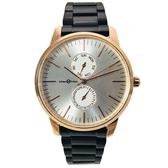 【完全計時】手錶館│Max Max MAS7022-1銀白雙眼系列 316L不銹鋼錶帶