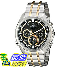 [美國直購] 手錶 Casio Mens EFR-537SG-1AVCF Neon Illuminator Two-Tone Stainless Steel Watch