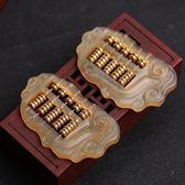 黃金萬兩羊角算盤鑰匙扣創意手工汽車鑰匙錬掛件男女士鑰匙圈飾品   LannaS