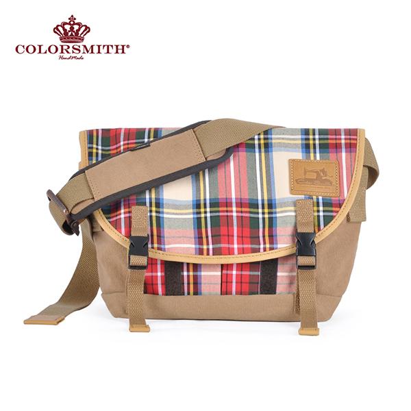 【COLORSMITH】LD・ 隨行郵差包-經典紅格紋・LD1288-RH-S