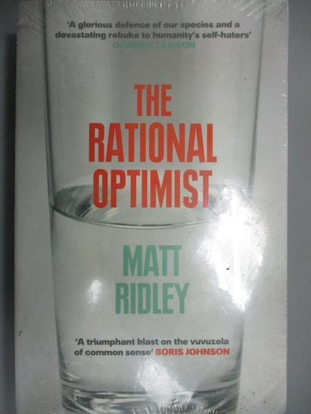 【書寶二手書T1/社會_NSN】Rational Optimist: How Prosperity Evolves_Matt Ridley