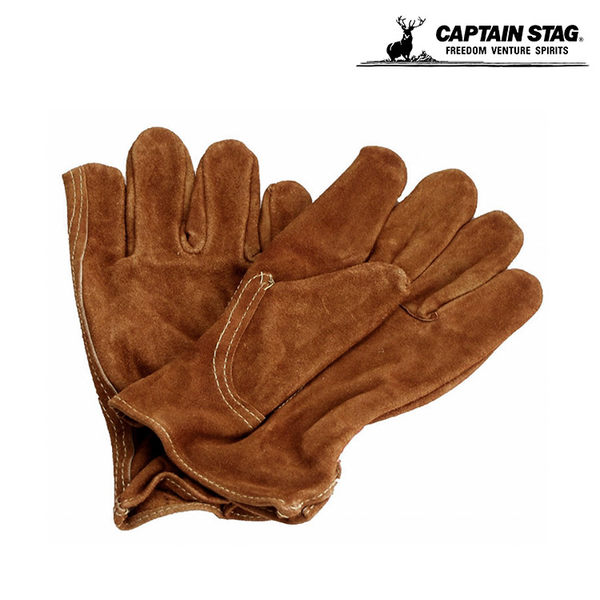 Captain Stag 日本鹿牌 防燙皮手套 M-5560 / 城市綠洲 (露營.野營.烤肉.隔熱.牛皮)