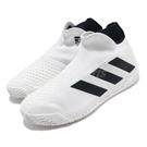adidas 網球鞋 Stycon M 白 黑 男鞋 襪套式 無鞋帶 運動鞋 【ACS】 FY2943