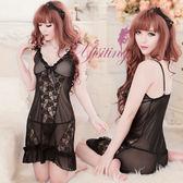 情趣睡衣 蕾絲款 熱銷商品 情趣用品 醉夢天使!性感蕾絲二件式睡衣