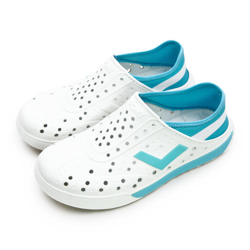 LIKA夢 PONY 防水輕量透氣 ENJOY 世足賽洞洞休閒鞋 阿根廷 白藍 82U1SA73OW 女