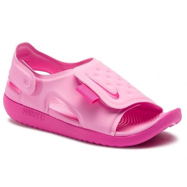 Nike Sunray Adjust 5 童鞋 中童 大童 涼鞋 包覆 防水 透氣 粉 【運動世界】 AJ9076-601