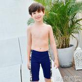 男童泳裝 兒童游泳衣男童五分長度泳褲中大童加大碼男孩短褲 寶貝計畫