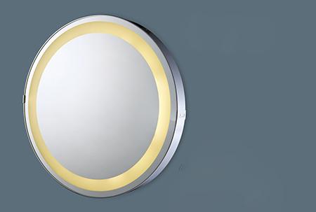【麗室衛浴】化妝鏡 附燈噴砂明鏡  圓型 LED 大浴鏡 MW3033-L  600*厚度 40 mm