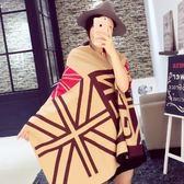 羊毛絨長披肩-歐美流行米字旗印花女圍巾3色73hy17[時尚巴黎]