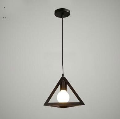 簡約現代餐廳吊燈三頭創意個性復古工業風吧臺過道單頭鐵藝小燈具 亞斯藍