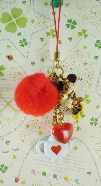 【震撼精品百貨】Micky Mouse_米奇/米妮 ~吊飾-米妮毛球圖案