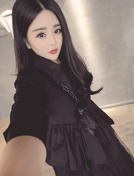 ♥ 俏魔女美人館 ♥2016春裝大碼女装胖MM韓版顯瘦長款衬衫連衣裙女蕾絲打底連衣裙潮