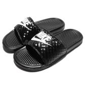 Nike 拖鞋 Wmns Benassi JDI 黑 鑽石 涼拖鞋 女鞋 GD拖【PUMP306】 343881-011