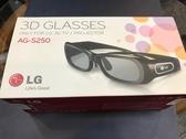 全新品出清 LG 3D眼鏡 AG-S250 主動式 3D眼鏡 充電式