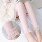 女童絲襪夏季薄款兒童九分打底褲白色舞蹈襪女孩蝴蝶蕾絲花邊褲 快速出貨