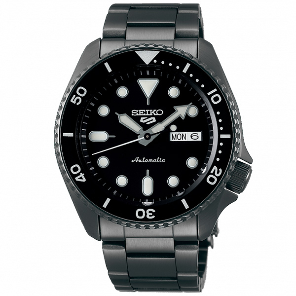 【台南 時代鐘錶 SEIKO】精工 5 Sports 系列機械錶 SRPD65K1@4R36-07G0SD 黑 42.5mm