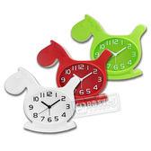 現代居家童趣木馬立體刻度造型鬧鐘 - 白紅綠