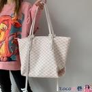 熱賣側背包 高級感包包女大容量2021新款潮網紅手提側背包百搭通勤托特子母包【618 狂歡】