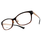 Dior 光學眼鏡 AMAO1F EOG (琥珀棕-玫瑰金) 貓眼繽紛系列 平光鏡框# 金橘眼鏡