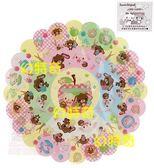 【玩之內】日本正版焦糖兔甜點兔點心兔蘋果系列大花邊貼紙52081