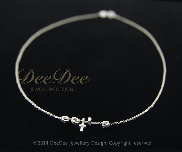 可愛 925銀迷你十字架 + 小輪圈項鍊,DeeDee Jewellery 生日禮物