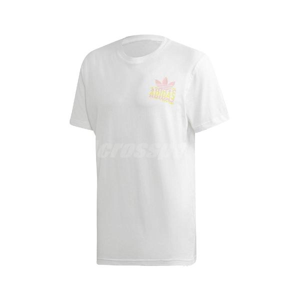adidas 短袖T恤 Multi Fade SP Tee 白 粉紅 黃 男款 短T 運動休閒 【PUMP306】 FM3379
