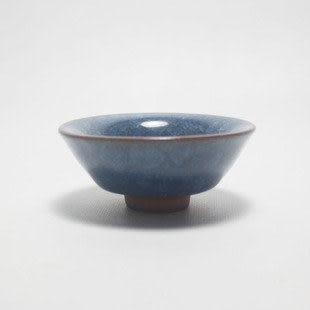 龍泉青瓷精品冰裂紋斗笠杯